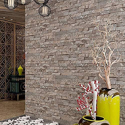 Brick Wallpaper_Old Marble Chinese Restaurant Bar Bekleidungsgeschäft Brick Brick Wallpaper 3D Wallpapers Wallpaper Wanddekoration fototapete 3d Tapete effekt Vlies wandbild Schlafzimmer-250cm×170cm