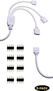 アドレサブル rgb 4pin 3分岐ケーブル 2本セット RGB ケースファン 4ピンLEDテープ3分岐接続ケーブル LEDテープライト
