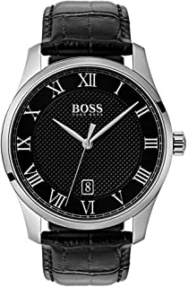 Hugo Boss Men's Black Dial Leather Band Watch - 1513585