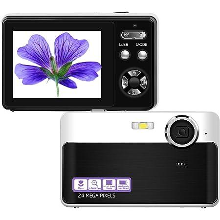 Amazon Com Digital Camera Mini Video Camera Point And Shoot Camera 2 4inch 24 Mp Hd Students Digital Camera For Kids Teenagers Beginners Electronics