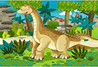 Cartoon Dinosaurier Hintergrund, NBK04940, 5x3FT