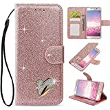 fangke Samsung Galaxy J3 2017 Case,Bling Glitter [Magnetic