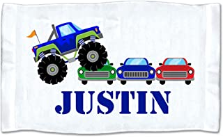 Pattern Pop Small Personalized Monster Truck Rally Towel