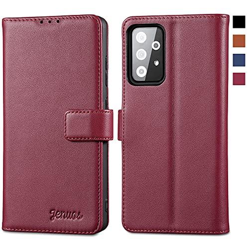 Jenuos Funda Samsung Galaxy A52 5G&4G/ A52s 5G Libro, [Bloqueo RFID] Carcase...
