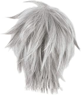 Jack Frost Wig Rise of The Guardians Cosplay Short Silver Gray Hair Accessory