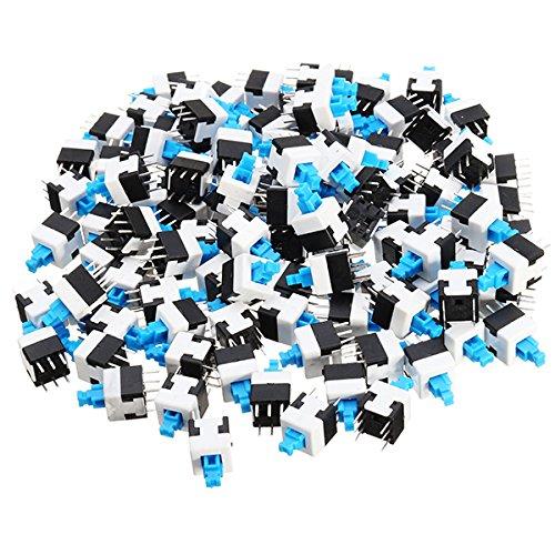 Les – 100 stuks 8 x 8 mm 6-polig touchscreen auto-vergrendeling aan-/uit-schakelaar, knop om op te hangen