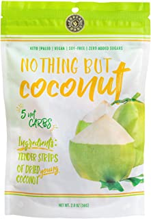 COCOBURG Nothing But Coconut Vegan Snack, Dried Coconut Strips | Paleo, Vegetarian, Keto, Gluten & Soy Free, Natural, Plan...