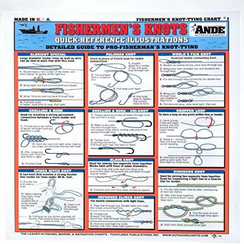 Tightline Publications Fishermen's Knots #1 Tightlines Chart, White
