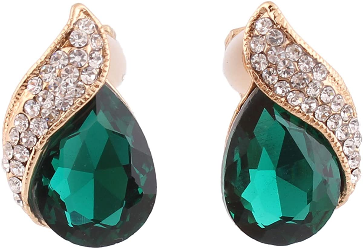Grace Jun Luxury NEW before selling Bridal Washington Mall Rhinestone Drop Crystal Clip Shape Water