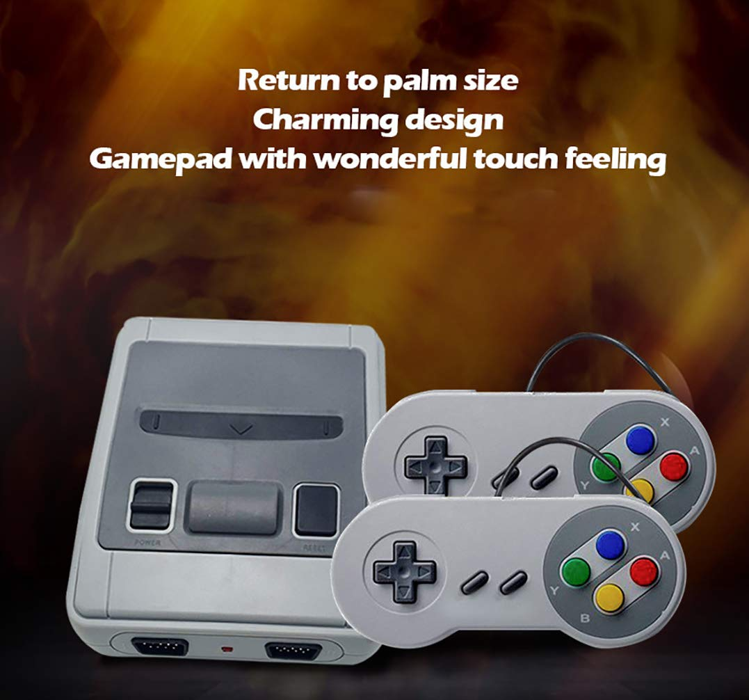 Retro Game Console,Classic Video Game Console AV Output Mini NES Console 660 in 1 Built-in Plug and Play Video Games with 2 Controllers Handheld Games for Kids & Adults