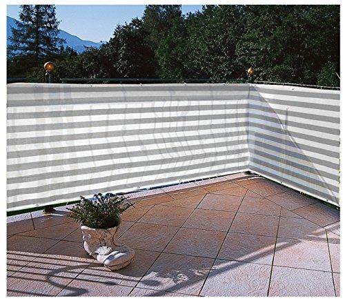 Floracord Balkonumrandung HDPE 0,90 x 5m, grau/weiß/mehrfarbig