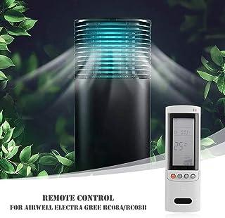 Everpert Reemplazo Plástico Acondicionador de Aire Acondicionado de Control Remoto para Airwell Electra Gree RC08A / RC08B