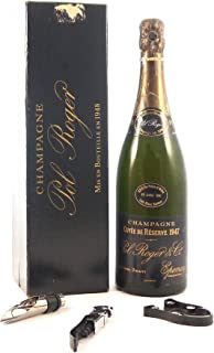 Pol Roger Cuv馥 de R駸erve Vintage Brut Champagne 1947 (Disgorged in 1981) in a original box with three wine accessories, 1 ...