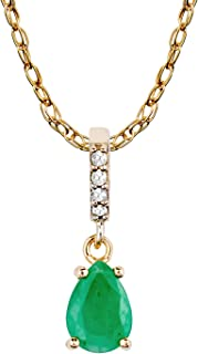0.85 Cttw. Jewels By Lux 14k Yellow Gold Genuine Birthstone Pear Shaped Gemstone Pendant