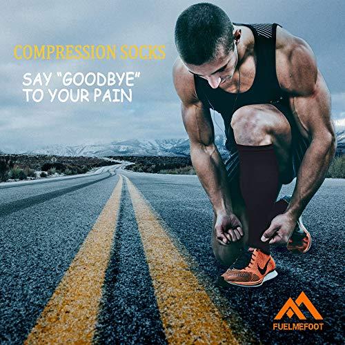 3 Pack Copper Compression Socks - Compression Socks Women & Men - Best for Medical,Circulation,Running,Athletic