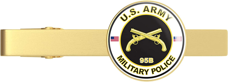 HOF Trading Gold U.S. Army MOS 95B Military Police Gold Tie Clip Tie Bar Veteran Gift