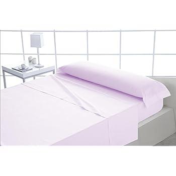 ForenTex - Juego de sábanas, (S-Rosa), 100% algodón, Rosa, Cama de ...