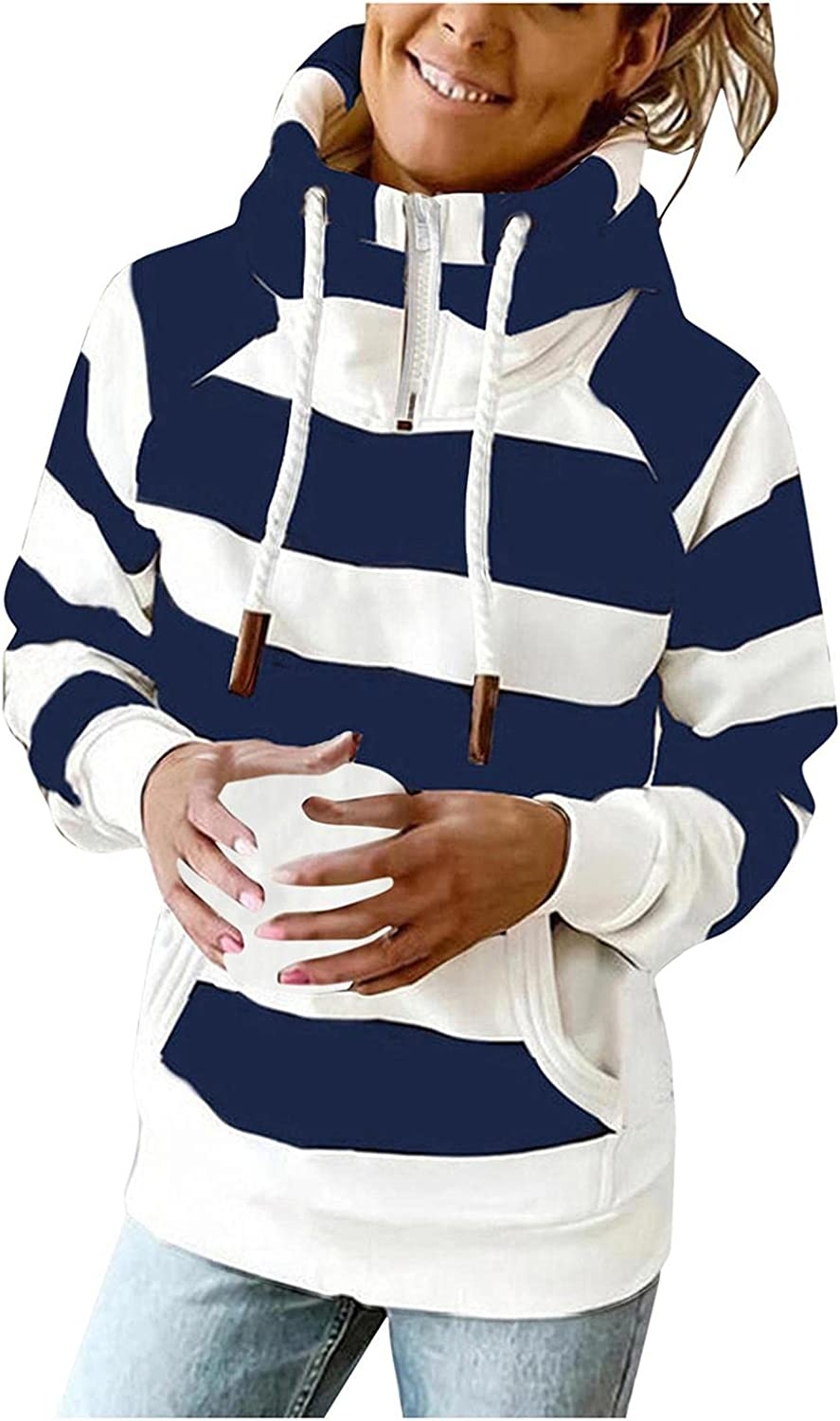 AODONG Hoodies for Women Fashion Dressy Casual Loose Long Sleeve Pullover Sweatshirts Comfort Tops Blouses