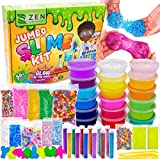 DIY Slime Kit for Girls Boys - Ultimate Glow in the Dark Glitter Slime Making Kit Arts Crafts - Slime Kits Supplies include Big Foam Beads Balls, 18 Mystery Box Containers filled Crystal Powder Slime