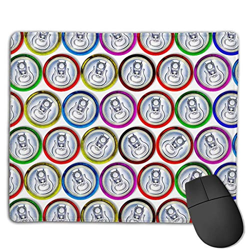 Preisvergleich Produktbild Mouse Pad Zip-Top Can Pattern Rectangle Rubber Mousepad 8.66 X 7.09 Inch Gaming Mouse Pad with Black Lock Edge
