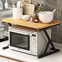 Microondas digitales horno Microondas horno de carro ahorrador de espacio 2 Niveles de cocina Soporte estante de almacenamiento Bastidores Contador del hogar y el Gabinete Mercancías Organizador durab