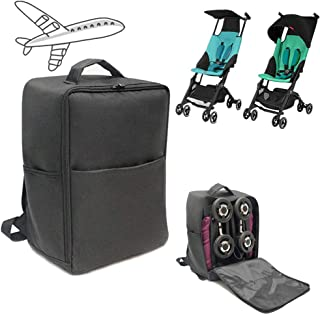 Stroller Gate Check Travel Bag Backpack Compatible for gb ポキット エアー Pockit/Pockit+ AIR 軽量コンパクトセカンドベビーカー (ブラック)
