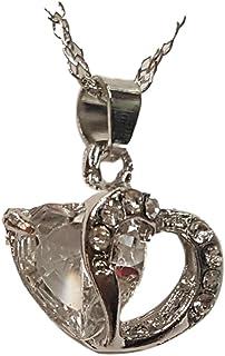 bargainsforyou Fashion Crystal Heart Shaped Pendant Necklace