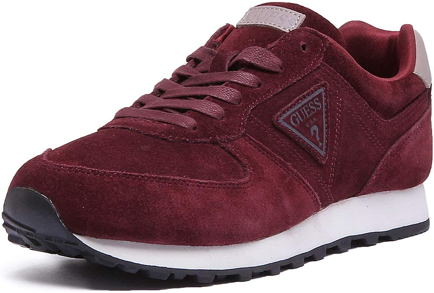 GUESS Charlie Trainers in Burgundy
