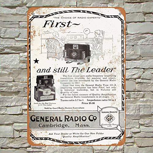 Henson 1924 Algemeen Radio Versterkers Traditionele Vintage Tin Teken Logo 12 * 8 Advertising Eye-Catching Wanddecoratie