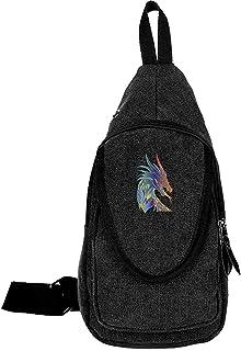 Arvolas Sling Bag Crossbody Color Dragon Head Hombro Lienzo Cofre Bolsa Antirrobo Mochila de Hombro Mochila de Viaje para ...