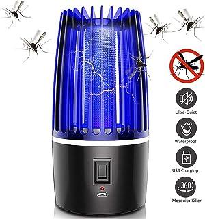 Dvuboo Lámpara Anti Mosquitos, UV Mata Mosquitos Electrico Mosquitos Killer para Mosquitos, Insectos, Moscas, Polillas Interior Exterior 5W, Alimentada por Adaptador EU,2000 mah