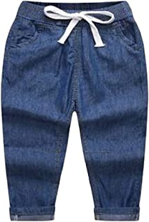 H/&E Boys Casual Jeans Summer Denim Classic-fit Thin Pants