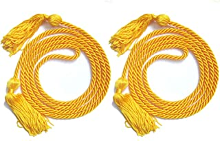 MUTOCAR 2 PCS Single Color Graduation Honor Cord,Yellow