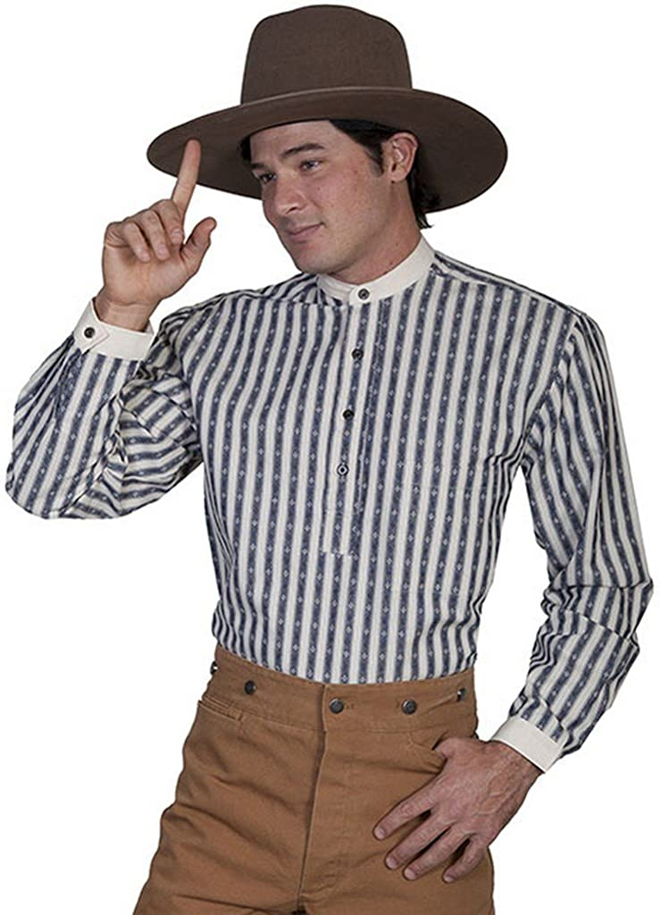 Scully Striped Shirt, RW101X-BLU