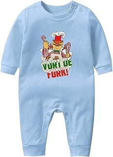 100% Cotton Swedish Chef Muppet Christmas Vurt De Furk Footed Pajamas Newborn Baby Boy Girl Long Sleeve Footless Pajamas