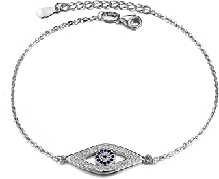 COOLSTEELANDBEYOND Couleur dor Perle Cha/îne Jaune Coton Corde Trois Rang/ées Femme Bracelets de Cheville avec Cercles et Zircone Cubique
