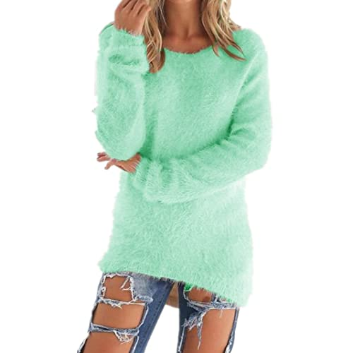 1cecfeaf956 Sorrica Women s Casual Knit Pullover Loose Fluffy Fuzzy Jumper Sweater