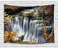 FJTP壁タペストリー滝秋の森自然の風景ファッショナブルなタペストリー壁ハニング大学寮の家の装飾