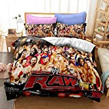 WMZ-SC WWE Legends - Juego de funda de edredón y funda de almohada (220 x 240 cm, 80 x 80 cm)