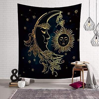 AF Bohemian Indian Mandala Hippie Tapestry, Manta Decorativa de impresión Digital en 3D de Pared de Arte/Manta de Pared/Toalla de Playa/Mantel/Manta de meditación (Color : F, Size : 95x73cm)