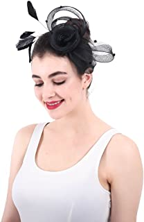 女性の魅力的な帽子 女性ライトシナマイ魅力的なヘアクリップアクセサリーウェディングカクテルティーパーティー