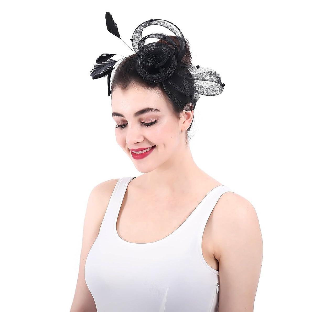 ジャケット押し下げる怒っている女性の魅力的な帽子 女性ライトシナマイ魅力的なヘアクリップアクセサリーウェディングカクテルティーパーティー