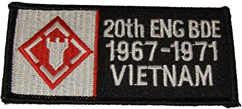 20TH ENGINEER BRIGADE 1967-1971 VIETNAM PATCH - Color - Veteran Owned Business