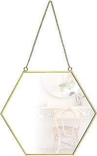Matogle 24 PCS Specchio Adesivo da Parete Acrilico Decalcomania Specchio da Muro Fai da Te Decorazione Specchi Decorativi Specchio Murale Stile Moderno con Forma Esagono Argento