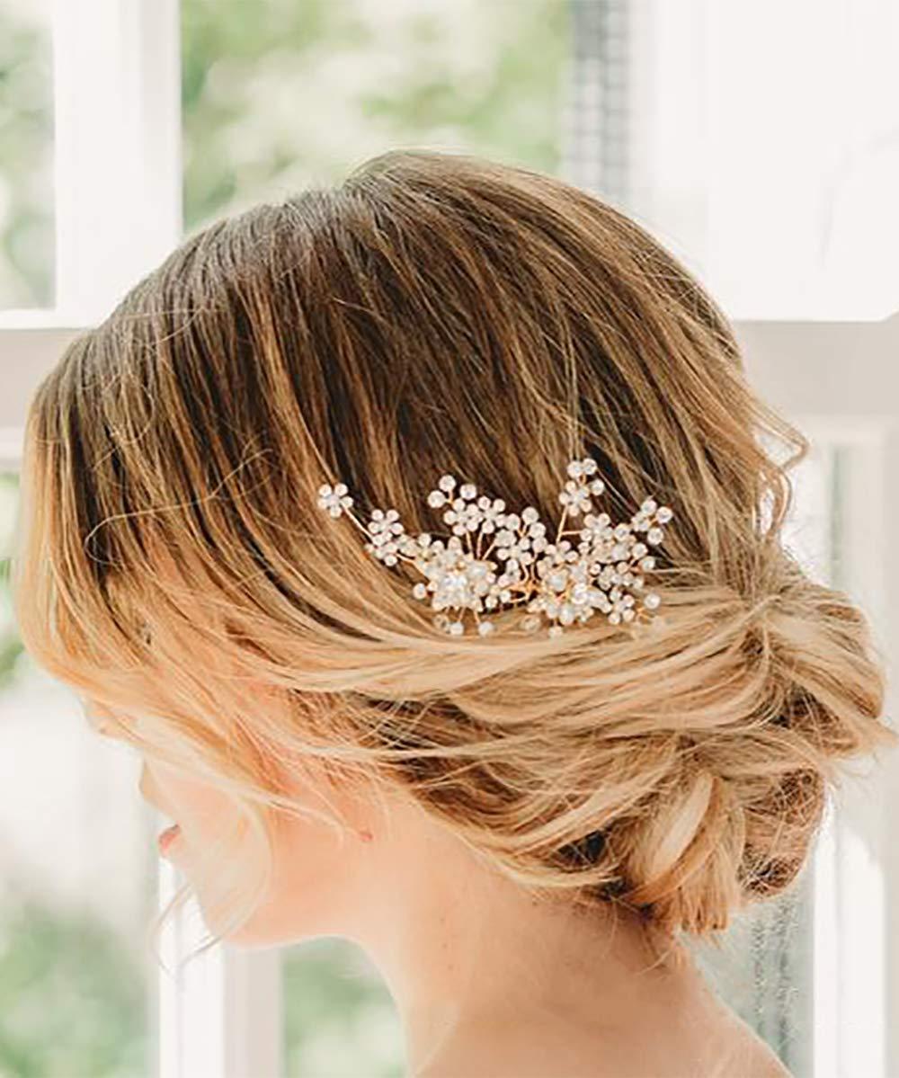 Denifery Dainty Bridal Floral Hair Wedding Oakland Mall Pearl Comb Ranking TOP14