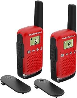 Motorola T42 RED - Walkie Talkie PMR446, 16 Canales, Alcance 4 km, Rojo, 2 Unidades