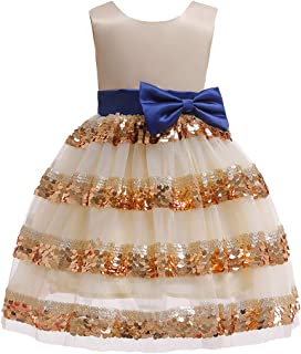 TOYANDONA Girls Princess Dress Bowknot Fashion Sleeveless Ball Gown Kids Dress Party Costumes for Birthday New Year Wedding