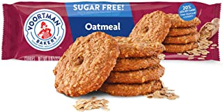 Voortman Bakery, Sugar Free Oatmeal Cookies, 8 oz. Bag, Pack of 4 -Delicious Sugar Free CookieMade with Real Ingredients, ...