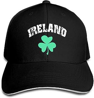 Unisex Sandwich Cap Ireland Irish Shamrock Clover Adjustable Classic Sport Cap for Men & Women