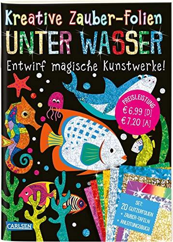 Kreative Zauber-Folien: Unter Wasser: Set mit 10 Zaubertafeln, 20 Folien und Anleitungsbuch: Kinderbeschäftigung ab 5